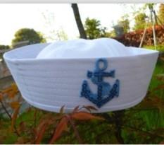 Rp 78.100. Siswa Sekolah Dasar TK panggung jam pertunjukan topi anak-anak  angkatan laut Topi pelaut putih dewasa Pria dan wanita ... 9e5cda7c95