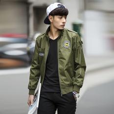 Angkatan Udara Pria Terbang Jaket Jaket (Hijau Tentara Bagian Tipis)