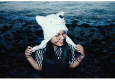 Animal Hat Topi Hewan Srigala Putih a8302fdb74