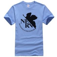 Beli Anime Kartun Eva Neon Genesis Evangelion Nerv Logo Kapas Mens Pakaian Pria T Shirt Manga Tshirt Casual T Shirt Pria Tee Biru Intl Custom T Shirt Murah