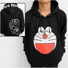 ANIME jaket sweater Hoodie doraemon - HITAM