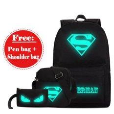 Beli Anime Luminous Student Sch**l Bags Nightlight Fashion G*rl Boy Backpack Large Size Intl Cicilan