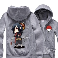 Toko Anime Naruto Sasuke Hoodie Cosplay Sweatshirt Katun Jaket Mantel Kostum Tops Sweater Pria Wanita Abu Abu Intl Inn Di Tiongkok