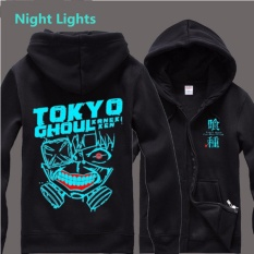 Review Tentang Anime Tokyo Ghoul Light Glow Luminous Cosplay Hoodies Jaket Kaneki Ken Coat Kostum Cosplay Koleksi Casual Casual Intl