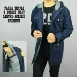 Spesifikasi Ank Jaket Parka Kanvas Pria Cowok Bolak Balik Premium Murah
