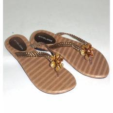 Anneliese sandal flat wanita lily beige