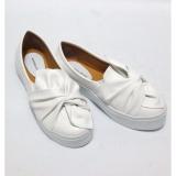 Spesifikasi Anneliese Sepatu Slip On Wanita Ribbon White Dan Harga