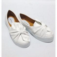 Beli Anneliese Sepatu Slip On Wanita Ribbon White Nyicil