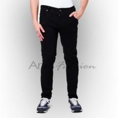 Tips Beli Anr Celana Panjang Jeans Regular Fit Standard Pria Hitam Black Yang Bagus