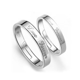 Harga Ansee 925 Sterling Silver Love Forever Ajustable Ring For Couple Valentine S Day Silver Murah
