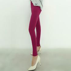 Daftar Harga Antartika Wanita Ukuran Besar Bagian Tipis Pinggang Tinggi Celana Panjang Baru Legging Merah Mawar Warna Nanjiren