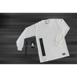 Spesifikasi Antengcloth T Shirt Longsleeve Pria Wanita Kaos Lengan Panjang Cotton 24S Putih Dan Harganya