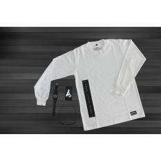 Harga Antengcloth T Shirt Longsleeve Pria Wanita Kaos Lengan Panjang Cotton 24S Putih Asli T Shirt