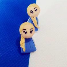 Anting Elsa Frozen Disney Import Clay Korea Giwang Tusuk Tindik Anak - 6D6dec