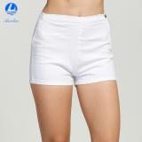 Diskon Aooluo Tinggi Pinggang Musim Panas Wanita Tight A Tombol Slim Jeans Denim Hot Pants Putih Oem Di Tiongkok