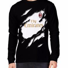 Beli Barang Apparel Glory Kaos 3D Ac Milan Jersey Away Lengan Panjang Hitam Online