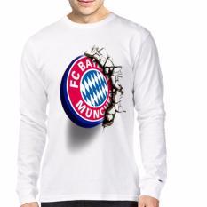 Apparel Glory Kaos 3D Bayern Munchen Gold Lengan Panjang Putih