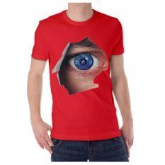 Apparel Glory kaos 3D EYE Merah