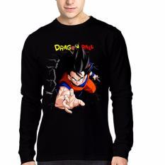Beli Apparel Glory Kaos 3D Goku Dragonball Lengan Panjang Hitam Banten