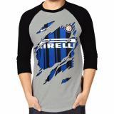 Model Apparel Glory Kaos 3D Inter Milan Bola Raglan Abu Hitam Terbaru