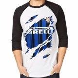 Promo Toko Apparel Glory Kaos 3D Inter Milan Bola Raglan Putih Hitam