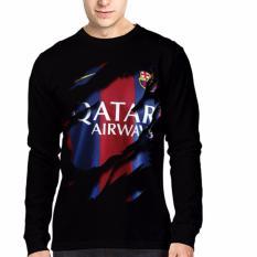 Beli Barang Apparel Glory Kaos 3D Jersey Barcelona 5 Lengan Panjang Hitam Online