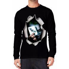 Apparel Glory Kaos 3D Joker Bat Lengan Panjang  Hitam