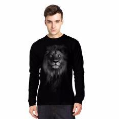 Apparel Glory Kaos 3D Lion Old Lengan Panjang Hitam Apparel Glory Diskon 50