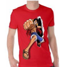 Apparel Glory Kaos 3D Luffy One Piece Run - Merah