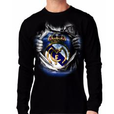 Jual Apparel Glory Kaos 3D Madrid Super Lengan Panjang Hitam