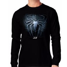 Apparel Glory kaos 3D SPIDERMAN 3 Lengan Panjang - Hitam