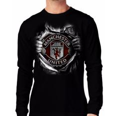 Apparel Glory Kaos 3D UNITED SUPER Lengan Panjang Hitam