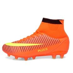 APTESOL Plus Ukuran EN39-46 Tinggi Ankle FG Sepatu Sepak Bola untuk Pria Terbaru Long Spike Pelatihan Football Boots Hard-mengenakan Sepatu Sepak Bola Outdoor Soccer Cleat-Intl