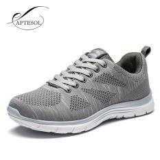 Pusat Jual Beli Aptesol Menjalankan Sepatu Untuk Pria Luar Ruangan Sport Merek Air Mesh Bernapas Sneakers Super Light Redaman Lembut Renda Sepatu Grey Intl Tiongkok