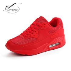 APTESOL Musim Semi Musim Gugur Menjalankan Sepatu untuk Pasangan Luar Ruangan Sneakers Unisex Plus Ukuran Breathable LACE UP PU Leather Boots Putaran -44 (merah) -Intl