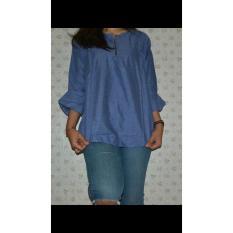 Promo Ar Wearhouse Blouse Wanita Blue Jeans Di Dki Jakarta