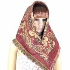Arabian Muslim Scarf Gold Thread Kacang Mete Jacquard Square BracketsMiddle East Syal-Intl