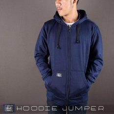 Harga Arc Hoodie Zipper Polos Navy Online Jawa Barat