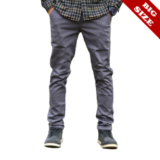 Toko Ard Celana Chino Panjang Big Size 35 42 Abu Grey Ard