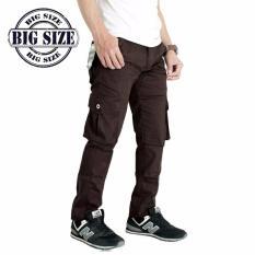 Spesifikasi Ard Celana Kargo Panjang Big Size 35 42 Cokelat Dan Harganya