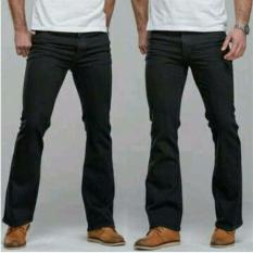 Jual Arfi Black Cutbray Pants Ori