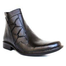 Spesifikasi Arfu Formal High Genuine Leather Hitam Yg Baik