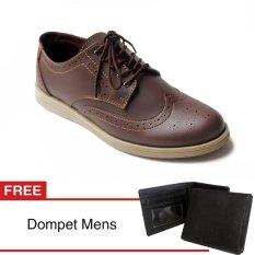 Tips Beli Arfu Wingtip Classic Brown Formal Free Dompet
