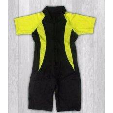 Ariza Sport Baju Renang Anak Diving Import Hitam - Hijau