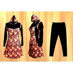 Jual Ariza Sport Baju Renang Muslimah Dewasa Black Motif Bunga Online Di Riau