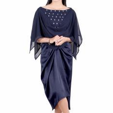 Beli Arla Best Seller Kaftan Wanita Pakaian Formal Kaftan Dan Beads Atau Mote Warna Navy Atau Biru Tua Yang Bagus
