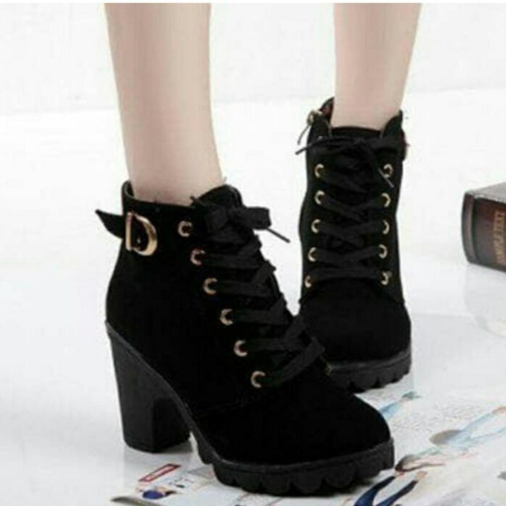 Yutaka Sepatu Wanita Keren Semi Boots Hitam Daftar Harga Humm3r Balado Hak Kokoh Arlaine Virginia Sneaker Booth Black