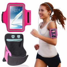 Armband Premium Sports Gym Case Cycling Running Jogging Cover Holder For iPhone 6 / 6+ / Smartphone 5.5 - (Pink)