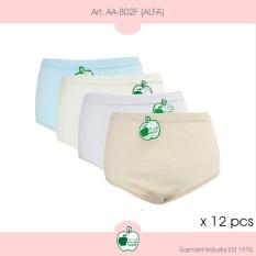 Arrow Apple - Lusinan - Celana Dalam Wanita - Alfa - 12 Pcs