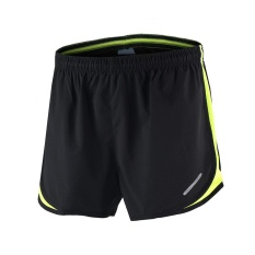 Arsuxeo Pria 2 In 1 Menjalankan Shorts Cepat Kering Marathon Training Fitness Menjalankan Bersepeda Olahraga Shorts Trunks Original